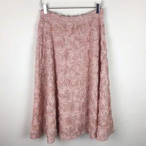 NWT Anthro HD in Paris Petaluma rose skirt size M
